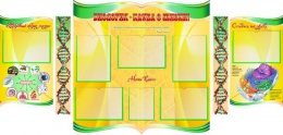 Купить Стенд фигурный Биология - наука о жизни! В жёлтых тонах 1900*900мм в Беларуси от 149.90 BYN