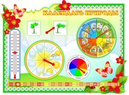 Купить Стенд фигурный Календарь Природы  в группу Полянка 860*620 мм в Беларуси от 70.50 BYN