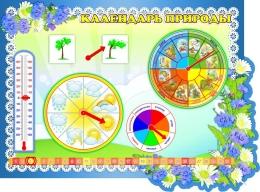 Купить Стенд фигурный Календарь Природы в группу Василёк 850*650 мм в Беларуси от 72.50 BYN