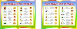 Купить Стенд фигурный Лагапедычная зарадка из двух частей на белорусском языке в радужных тонах 930*350 мм в Беларуси от 35.00 BYN