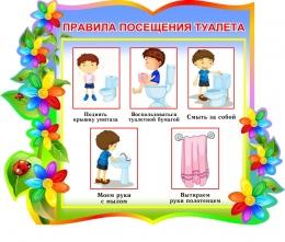 Купить Стенд фигурный Правила посещения туалета для группы Семицветик 380*300мм в Беларуси от 13.00 BYN