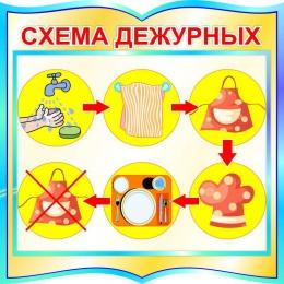 Купить Стенд фигурный Схема дежурных 560*560 мм в Беларуси от 38.00 BYN