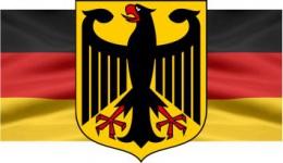 Купить Стенд Флаг Герб Германии в кабинет немецкого языка  300*170мм в Беларуси от 6.00 BYN