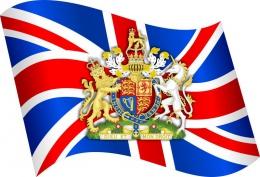 Купить Стенд  Флаг и герб Великобритании в кабинет английского языка  330*310мм в Беларуси от 12.00 BYN