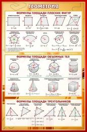 Купить Стенд Геометрия в золотисто-бордовых тонах 430*650 мм в Беларуси от 32.00 BYN