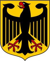 Купить Стенд Герб Германии в кабинет немецкого языка 300*180мм в Беларуси от 8.00 BYN