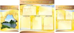 Купить Стенд  Гiсторыя - настаўнiца жыцця в кабинет истории золотисто-коричневый  1700*770мм в Беларуси от 139.80 BYN