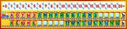 Купить Стенд Гласные и согласные с цифрами для кабинета начальной школы 1500*350 мм в Беларуси от 64.00 BYN