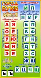 Купить Стенд Город букв в радужных тонах 400*750 мм. в Беларуси от 33.00 BYN