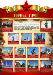 Купить Стенд города-герои ВОВ  790*1100 мм в Беларуси от 105.00 BYN