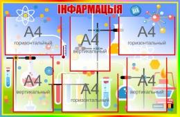 Купить Стенд Iнфармацыя для кабинета химии на белорусском языке в радужных тонах 1000*650мм в Беларуси от 94.00 BYN