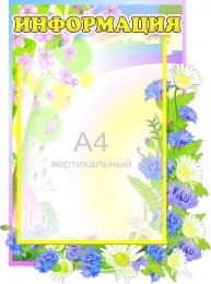 Купить Стенд Информация  группа Васильки 317*420 мм в Беларуси от 17.50 BYN