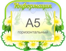 Купить Стенд Информация в группу Ромашка с карманом А5 320*250 мм в Беларуси от 10.40 BYN