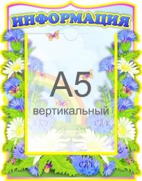 Купить Стенд Информация в группу Васильки с карманом А5 250*320 мм в Беларуси от 10.40 BYN