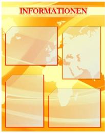 Купить Стенд Информация в кабинет немецкого языка желтый 600*750мм в Беларуси от 59.00 BYN