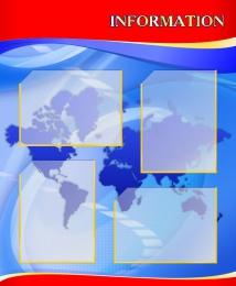 Купить Стенд INFORMATION для кабинета английского языка в красно-синих тонах 700*850мм в Беларуси от 75.00 BYN