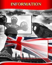 Купить Стенд INFORMATION для кабинета английского языка в стиле Лондон 600*750мм в Беларуси от 57.00 BYN