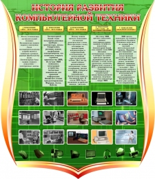 Купить Стенд История развития компьютерной техники 1000*1150 мм в Беларуси от 139.00 BYN
