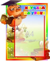 Купить Стенд Изучаем на уроке (Вывучаем на ўроку) для начальной школы 450*370мм в Беларуси от 22.50 BYN