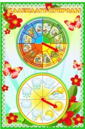 Купить Стенд Календарь Природы мини в группу Полянка 370*550 мм в Беларуси от 30.50 BYN