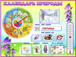 Купить Стенд Календарь Природы, развивающий в группу Колокольчик 800*600 мм в Беларуси от 74.50 BYN