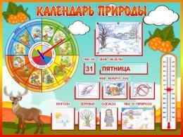 Купить Стенд Календарь Природы, развивающий в группу Морошка 800*600 мм в Беларуси от 71.50 BYN