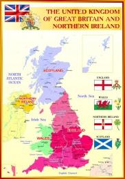 Купить Стенд Карта Великобритании для кабинета английского языка 700*1000мм в Беларуси от 81.00 BYN