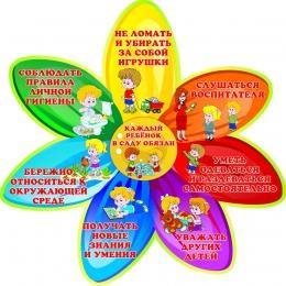 Купить Стенд Каждый ребёнок в саду обязан в стиле группы Семицветик 510*510мм в Беларуси от 30.00 BYN