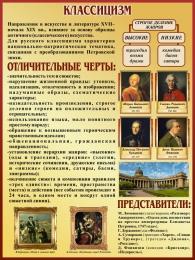 Купить Стенд Классицизм в искусстве и литературе 300*400 мм в Беларуси от 17.50 BYN