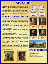 Купить Стенд Классицизм в искусстве и литературе 450*600 мм в Беларуси от 32.00 BYN