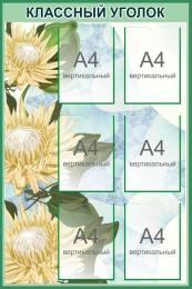 Купить Стенд Классный уголок в кабинет биологии в зеленых тонах 760*1150 мм в Беларуси от 116.00 BYN