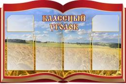 Купить Стенд Классный уголок в виде раскрытой книги на фоне поля 1050* 700 мм в Беларуси от 96.80 BYN