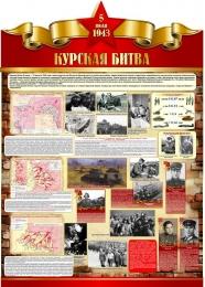 Купить Стенд Курская битва на тему  ВОВ размер 790*1100мм без карманов в Беларуси от 105.00 BYN
