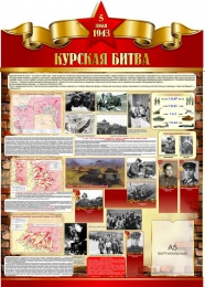 Купить Стенд Курская битва на тему  ВОВ размер 790*1100мм в Беларуси от 106.40 BYN