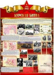 Купить Стенд Курская битва на тему  ВОВ размер 900*1250мм в Беларуси от 130.50 BYN