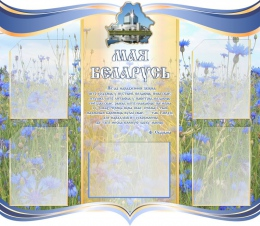 Купить Стенд Мая Беларусь в голубых тонах с васильками 1000*870мм в Беларуси от 119.66 BYN