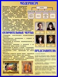 Купить Стенд Модернизм в искусстве и литературе 450*600 мм в Беларуси от 31.00 BYN