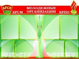 Купить Стенд Молодежные организации БРСМ и БРПО 1030*700мм в Беларуси от 105.10 BYN