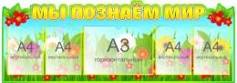 Купить Стенд Мы познаём мир для начальной школы 1470*520мм в Беларуси от 107.00 BYN