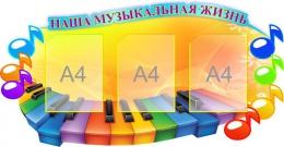 Купить Стенд Наша музыкальная жизнь в кабинет Музыки 1100*570мм в Беларуси от 83.50 BYN