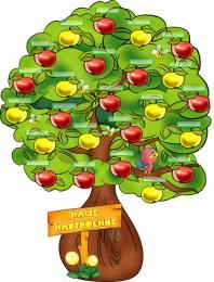 Купить Стенд Наше Настроение - Яблонька на 30 детей 1200*900 мм в Беларуси от 159.96 BYN