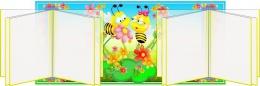 Купить Стенд Наше творчество группа Цветочек Пчелки с 2-мя вертушками А5 620*280 мм в Беларуси от 63.60 BYN