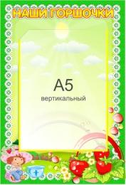 Купить Стенд Наши горшочки для группы Ягодка с карманом А5 в детский сад 230*340мм в Беларуси от 10.40 BYN