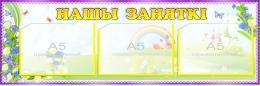 Купить Стенд Нашы заняткi группа Васильки с карманами А5 770*250 мм в Беларуси от 27.20 BYN