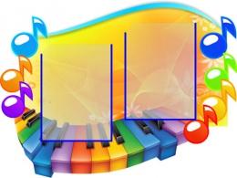 Купить Стенд Нотка в кабинет Музыки маленький 740*560мм в Беларуси от 55.00 BYN