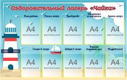 Купить Стенд Оздоровительный лагерь Чайка 1470*920 мм в Беларуси от 189.00 BYN