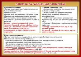 Купить Стенд Памятка па рабоце над памылкамi  на белорусском языке 700*500мм в Беларуси от 38.00 BYN