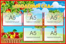 Купить Стенд Плодовый сад для экологической тропы 750*500 мм в Беларуси от 50.00 BYN