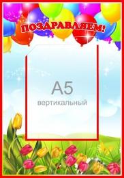 Купить Стенд Поздравляем с шариками 280*400мм в Беларуси от 14.40 BYN