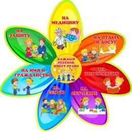 Купить Стенд Права ребенка в стиле группы Семицветик 390*390 мм в Беларуси от 17.00 BYN